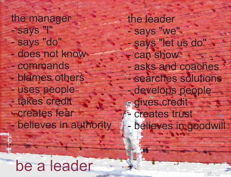 (Deutsch) manager versus leader