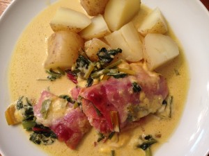 my magic cauldron – chard in ham